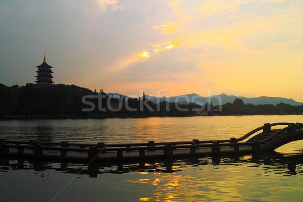 China west lake Stock photo © raywoo