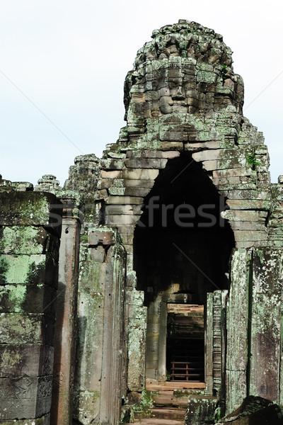 Bayon temple, Angkor, Cambodia Stock photo © raywoo