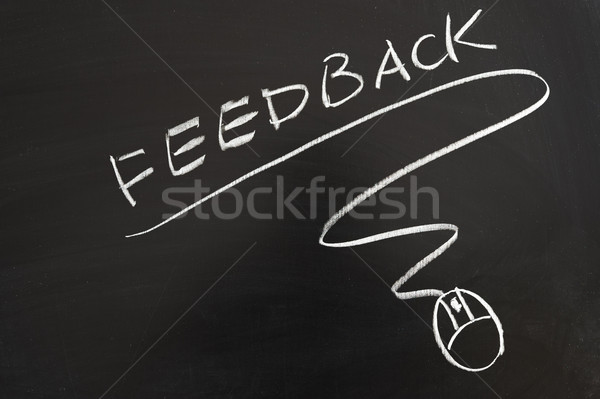 Feedback word and mouse symbol Stock photo © raywoo