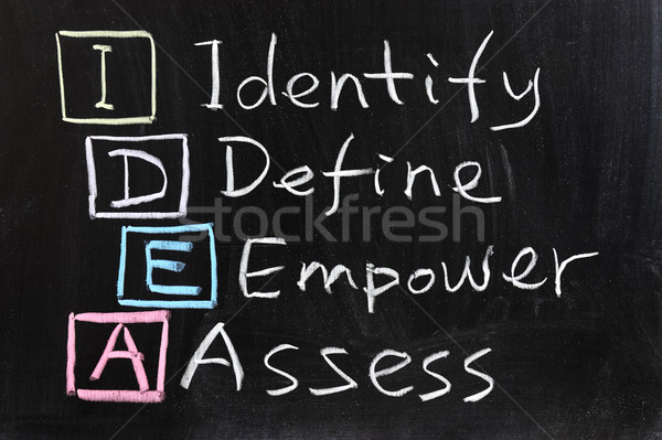 IDEA : Identify, define, empower and assess Stock photo © raywoo