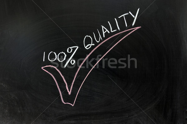 100 percent quality Stock photo © raywoo