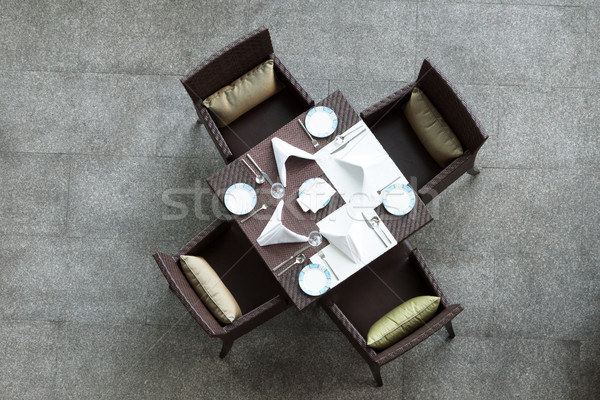 Dinning table and chairs Stock photo © raywoo