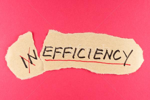 Ineficacia eficiencia palabra papel objetivo nota Foto stock © raywoo