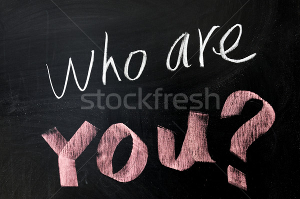 Who are you Stock photo © raywoo