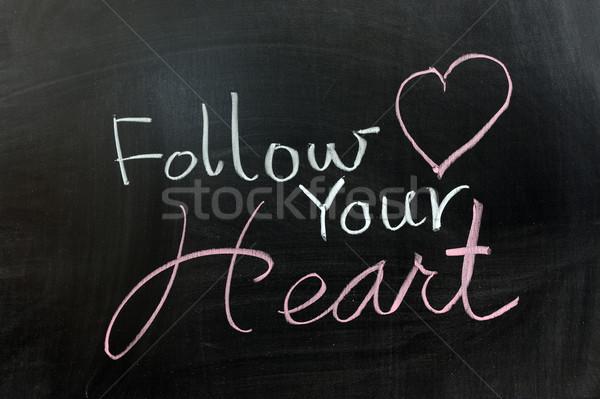Follow your heart Stock photo © raywoo