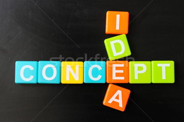 Crosswords of concept and idea Stock photo © raywoo