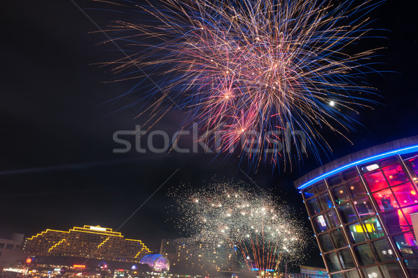 Fireworks in darling harbour Stock photo © raywoo