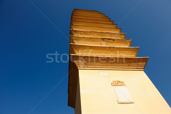 Ancient Chinese Buddhist pagoda Stock photo © raywoo