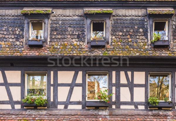 Alsatian House Facade Stock photo © RazvanPhotography
