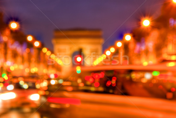 Abstract Traffic on Champs Elysees Stock photo © RazvanPhotography