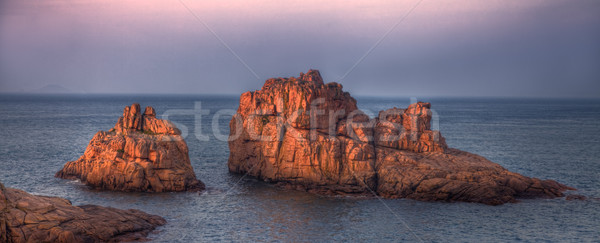 ストックフォト: 赤 · 美しい · 画像 · 日没 · 岩