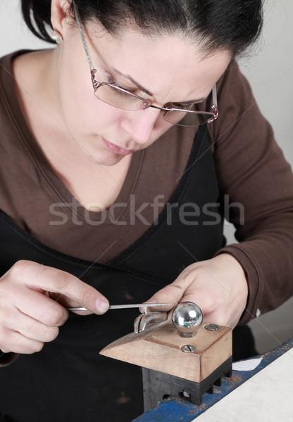 женщины ювелир рабочих изображение кусок Сток-фото © RazvanPhotography