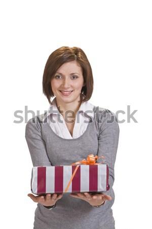 Woman offering a gift box Stock photo © RazvanPhotography