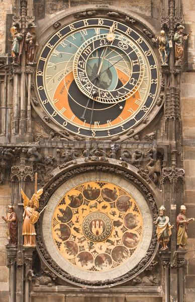 Astronomical clock-Prague Stock photo © RazvanPhotography