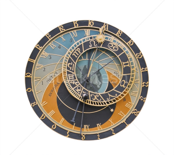Csillagászati alkotóelem óra Prága izolált fehér Stock fotó © RazvanPhotography