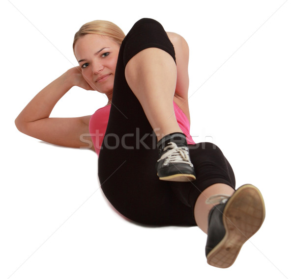 Woman Doing Sit-ups Stock photo © RazvanPhotography