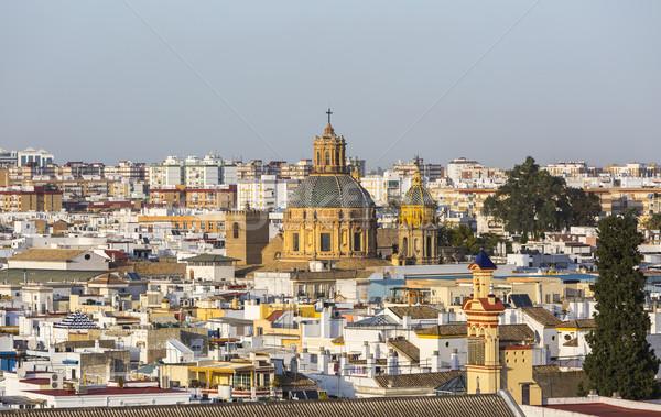 Chiesa francese Spagna torri tetti edifici Foto d'archivio © RazvanPhotography