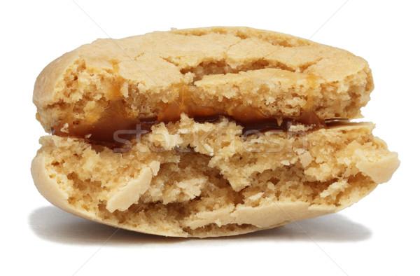 Macaron morder desaparecido imagem branco sobremesa Foto stock © RazvanPhotography