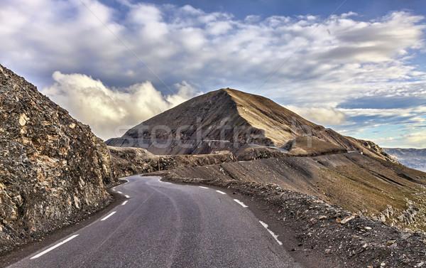 Road to Cime de la Bonnette Stock photo © RazvanPhotography