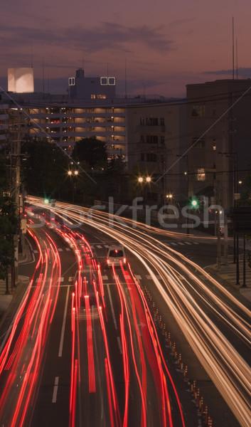 Late sunset in the city Stock photo © RazvanPhotography