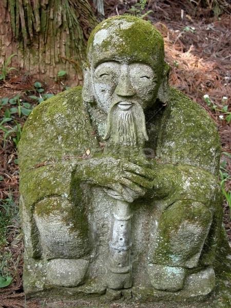 Statua muschio vecchio pietra coperto uomo Foto d'archivio © RazvanPhotography
