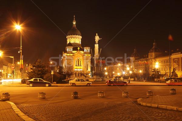 Avram Iancu Square-Cluj napoca,Romania Stock photo © RazvanPhotography