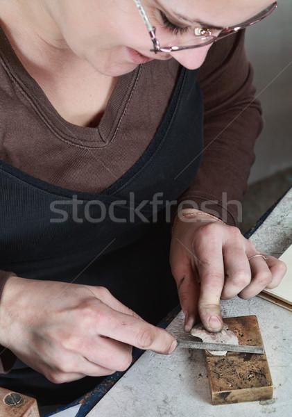 Female Jeweler Working Stock photo © RazvanPhotography