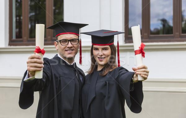 Happy Graduating Couple Stock photo © RazvanPhotography