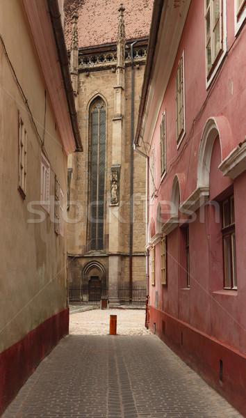 Fekete templom Romania 500 évek öreg Stock fotó © RazvanPhotography