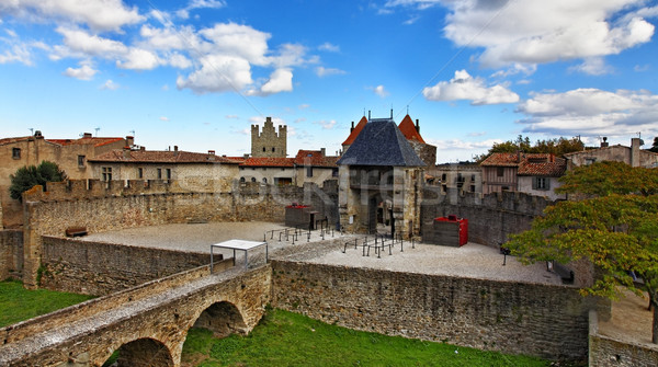Stock photo: Entrance in Carcassone fortified town