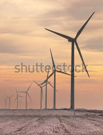 Windturbines at dusk Stock photo © RazvanPhotography