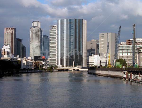 Osaka mimari görmek gökyüzü bulutlar şehir Stok fotoğraf © RazvanPhotography