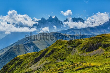 Alpino paisaje alpes cielo naturaleza montana Foto stock © RazvanPhotography