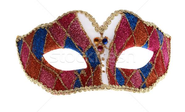 ベネチアンマスク 孤立した 白 赤 マスク ピンク ストックフォト © RazvanPhotography