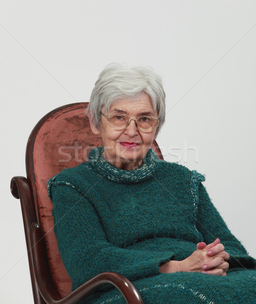 Portrait of an old woman Stock photo © RazvanPhotography