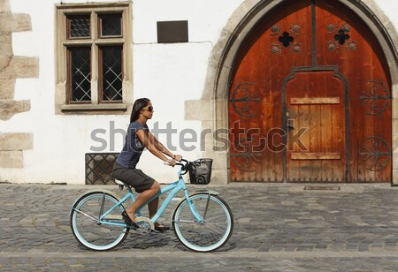 Urban bicycle ride Stock photo © RazvanPhotography