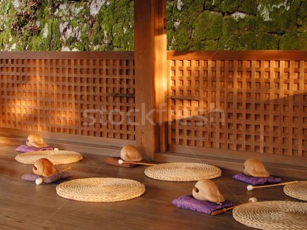 Meditation Stelle Mediation buddhistisch Gebäude Holz Stock foto © RazvanPhotography