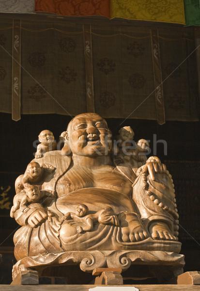 Buddha and children statue (Yamadera) Stock photo © RazvanPhotography