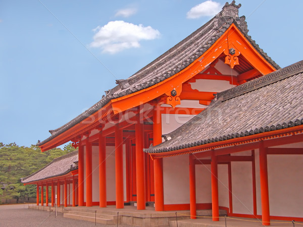 Kyoto Imperial Palace gate Stock photo © RazvanPhotography