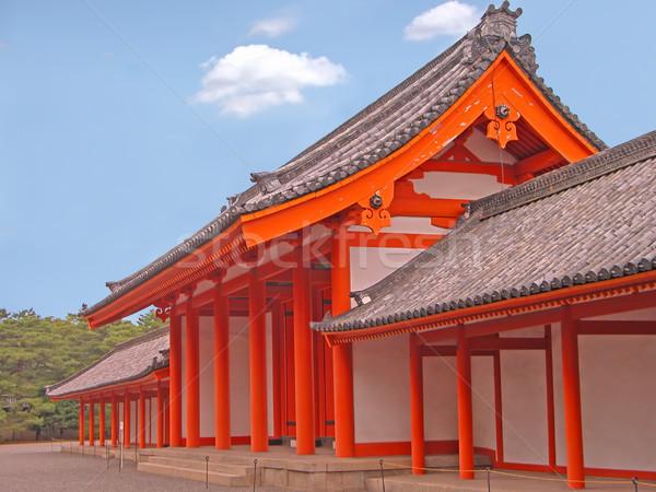 Kyoto palais porte image une bois Photo stock © RazvanPhotography