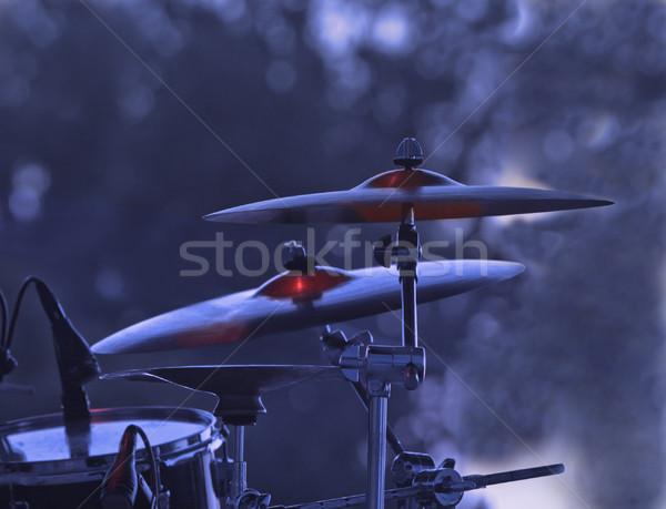 Görüntü davul kaya konser mavi sahne Stok fotoğraf © RazvanPhotography