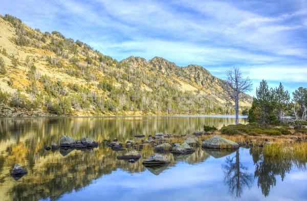 Lac d'Aubert in Neouvielle Massif Stock photo © RazvanPhotography