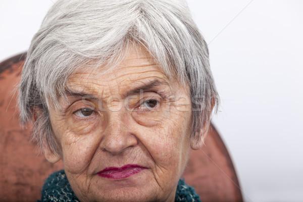 Retrato velha olhando mulher mãe Foto stock © RazvanPhotography