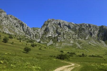 Сток-фото: гор · лет · изображение · Blue · Sky · пейзаж · красоту