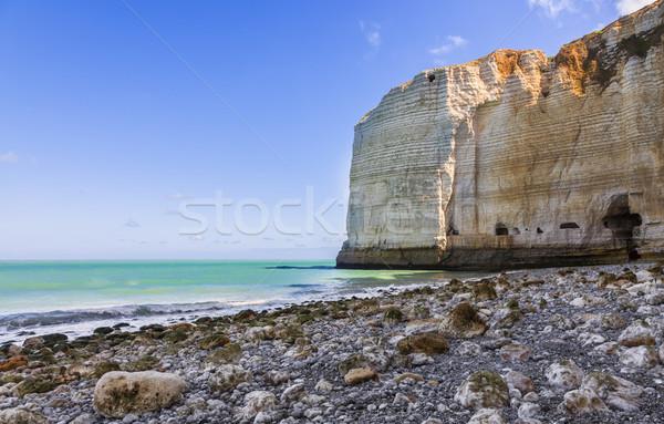 Tengerpart Normandia kép észak Franciaország égbolt Stock fotó © RazvanPhotography