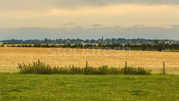 Francés paisaje pequeño pueblo distancia Foto stock © RazvanPhotography