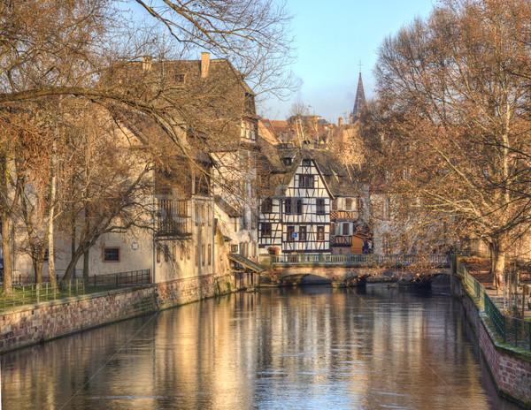 Water Canal In Strasbourg Stock photo © RazvanPhotography