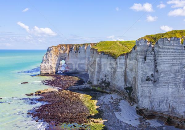 Tájkép Normandia alacsony árapály természetes kő Stock fotó © RazvanPhotography