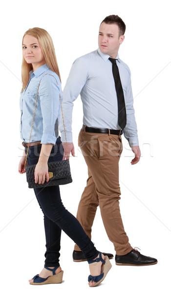человека женщину ходьбе хитрый взгляд пару Сток-фото © RazvanPhotography