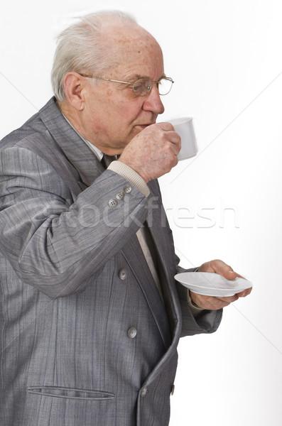 Plaisir café supérieurs homme potable tasse de café Photo stock © RazvanPhotography